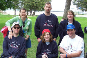 from left: Kelly and Jim, Jim and Aimee, Ann and Marty