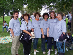 from left: John, Darlene, Rosie, Renée, Aimee and Milena